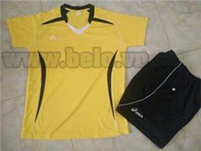 Áo bóng chuyền nam asics màu vàng AS01 giá rẻ nhất Hà Nội !