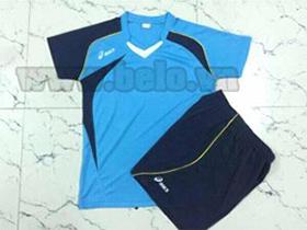Áo bóng chuyền asics nam xanh ngọc AS02 giá rẻ Hà Nội