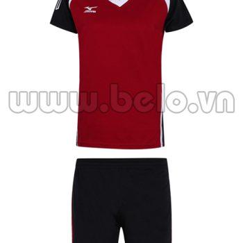 Áo bóng chuyền Mizuno nam màu đỏ đô MN03 giá sốc !