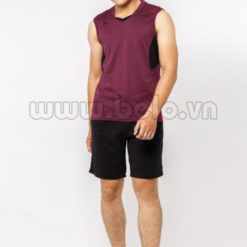 Quần áo bóng chuyền nam sát nách màu nâu mã CSN013