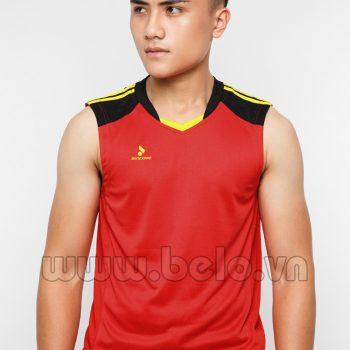 Áo bóng chuyền nam sát nách màu đỏ mã CSN016 thiết kế táo bạo !