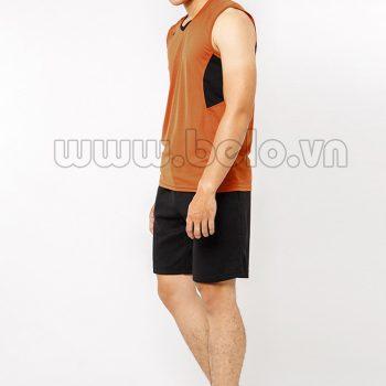 Quần áo bóng chuyền nam sát nách màu nâu mã CSN012 giá cực rẻ !