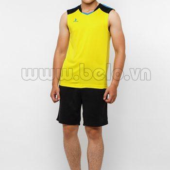 Áo bóng chuyền nam sát nách màu vàng mã CSN017 thiết kế hiện đại !