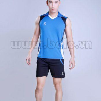 Áo bóng chuyền nam sát nách màu xanh dương mã CSN006 thiết kế hiện đại !