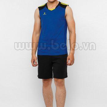 Áo bóng chuyền nam sát nách màu xanh dương mã CSN018 trẻ trung cá tính !