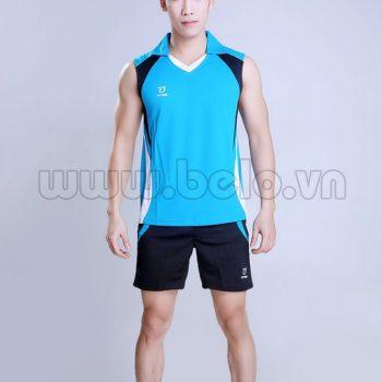 Áo bóng chuyền nam sát nách màu xanh ngọc mã CSN007 thiết kế mới lạ !