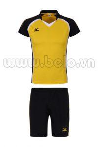 Quần áo bóng chuyền nữ Mizuno màu vàng MG03