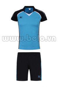 Áo bóng chuyền nữ chính hãng Mizuno màu xanh ngọc MG01