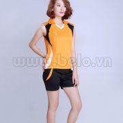 Áo bóng chuyền nữ sát nách màu cam mã CSN002 ưu đãi cực hot !