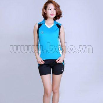 Áo bóng chuyền nữ sát nách màu xanh ngọc mã CSN004