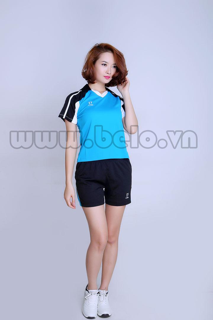 Áo bóng chuyền nữ cao cấp xanh ngọc pha đen PN 12