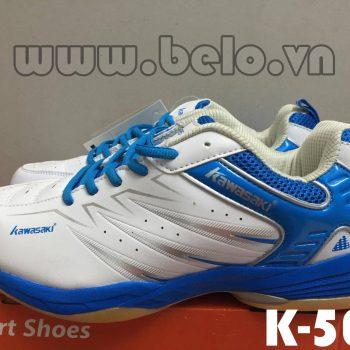 Giày bóng chuyền Kawasaki K-053 trắng pha xanh