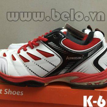 Giày bóng chuyền Kawasaki K-608 trắng pha đỏ
