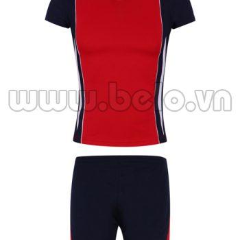 Quần áo bóng chuyền nữ màu đỏ mã MG05
